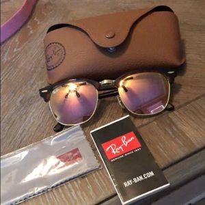 Raybans rose gold NEW